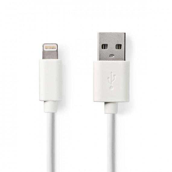 Nedis Câble de Charge et de Synchronisation Apple Lightning - USB-A Mâle 2,00 m Blanc