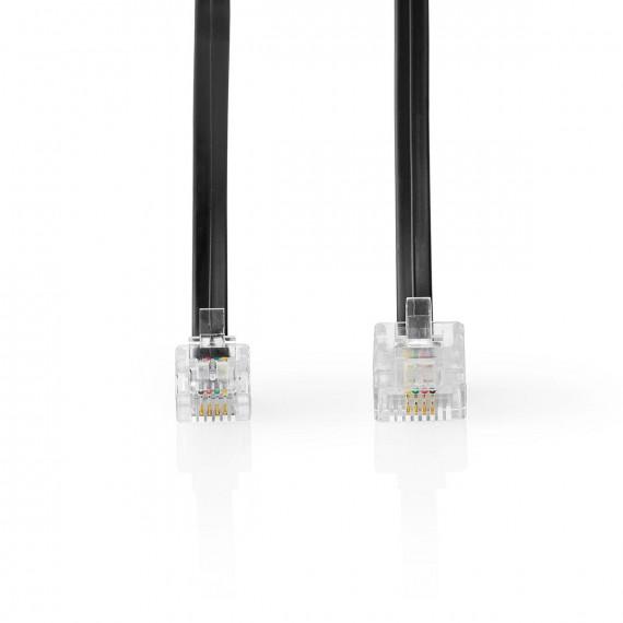 Nedis Câble de Télécommunication RJ11 (6P4C) mâle - RJ45 (8P4C) mâle 5 m Noir