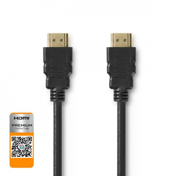 Nedis Câble HDMI™ Haute Vitesse Premium avec Ethernet Connecteur HDMI™ vers connecteur HDMI™ 1,50 m Noir