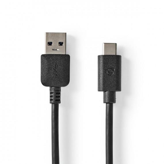 Nedis Câble USB 3.1 USB-C™ Mâle vers A Mâle 2,0 m Noir