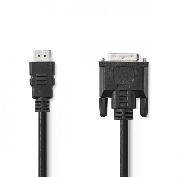 Nedis Câble HDMI™ vers DVI Connecteur HDMI™ DVI Mâle à 24 + 1 Broches 3,0 m Noir