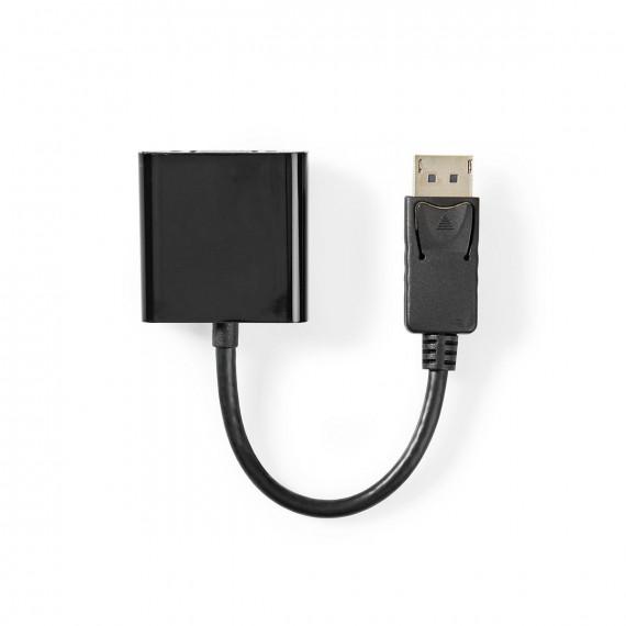 Nedis Câble adaptateur DisplayPort vers VGA DisplayPort Mâle VGA Femelle 0,2 m Noir