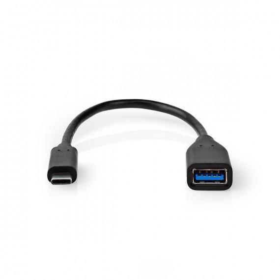 Nedis Câble Adaptateur USB-C™ USB-C™ Mâle A Femelle 0,2 m Noir