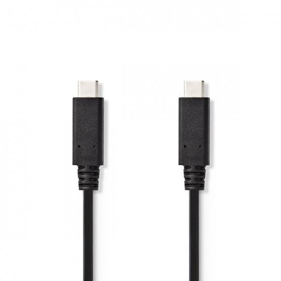Nedis Câble de synchronisation et de charge (Gen 1) USB-C™ Mâle USB-C™ Mâle 2,0 m Noir