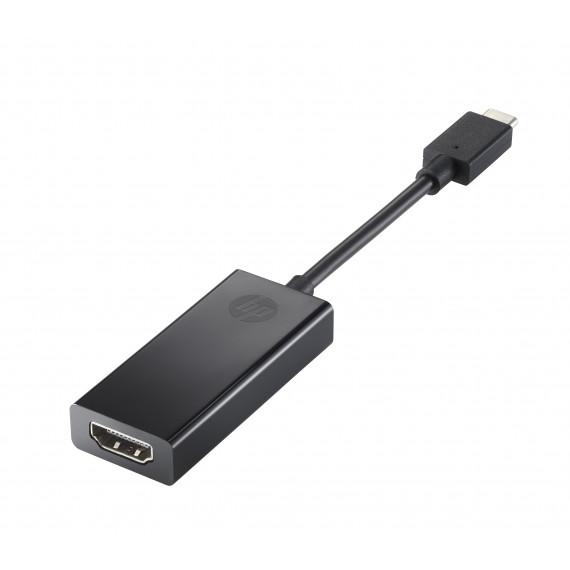 HP Adaptateur vidéo externe USB-C HDMI noir pour Elite Slice; EliteBook x360; Pro x2; ProBook x360; ZBook 15 G4, Studio G4