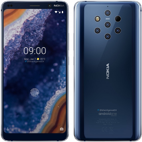 Nokia 9 Pure View DS BLUE 128G