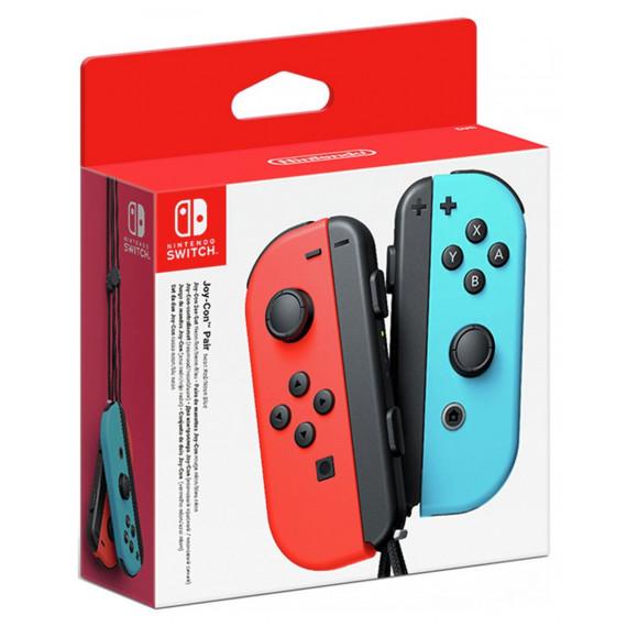 Nintendo Paire de manettes Joy-Con gauche rouge néon & droite bleu néon