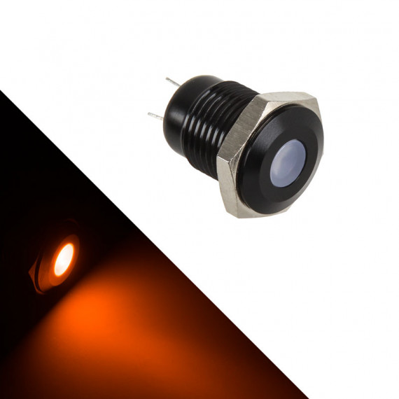 Lamptron LED antivandalisme soutenu - orange