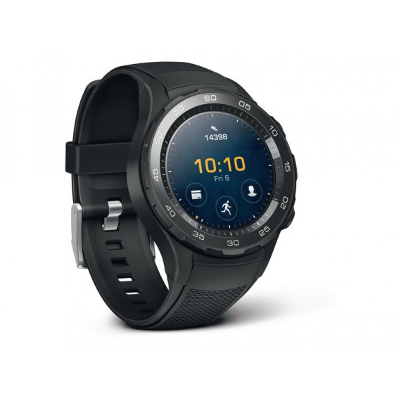 Huawei Watch 2 Sport Noir - Montre connectée IP68 - Wi-Fi/Bluetooth/NFC - GPS - Cardio-fréquencemètre - Android Wear 2.0 - iOS/Android