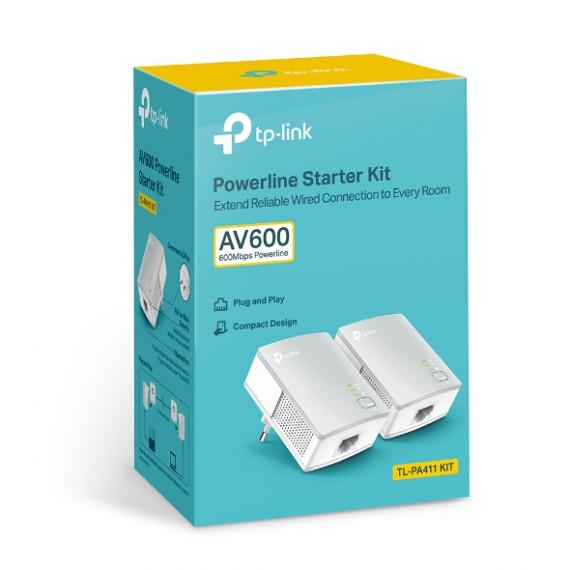 TPLINK TP-Link TL-PA411KIT AV500 Nano Powerline Adapter Starter Kit