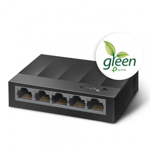 TPLINK LiteWave 5-Port Gigabit Desktop  LiteWave 5-Port Gigabit Desktop Switch 5 Gigabit RJ45 Ports Desktop Plastic Case