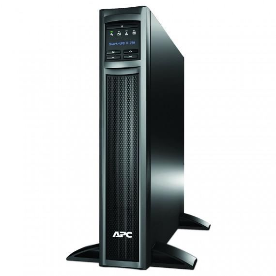 Onduleur APC Smart-UPS X 750VA SMX750I LCD Noir, détail 600 Watts, 750 VA Pleine charge: 14,2 min, demi-charge: 37,8 min 10x prises