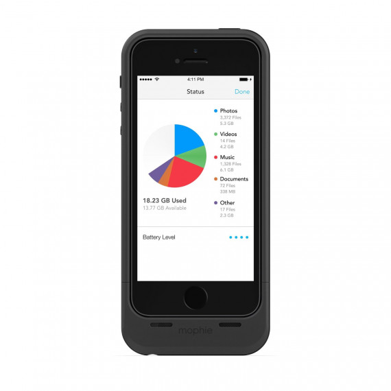 Coque batterie MOPHIE SPACE PACK iPhone 5/5S /32 GB - Black