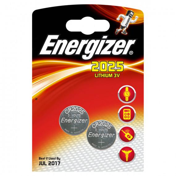 Energizer 2025 Lithium 3V (par 2)
