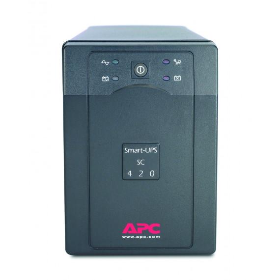 Onduleur APC Smart-UPS SC420I vente au détail 260 Watt, 420 VA Pleine charge: 5,5 min, demi-charge: 13,5 min douilles 4x
