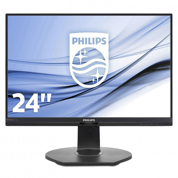 """PHILIPS 24"""" LED - 241B7QUPBEB - 1920 x 1080 pixels - 5 ms (gris à gris) - Format large 16/9 - Dalle IPS - DisplayPort - HDMI - Hub USB - Noir"""