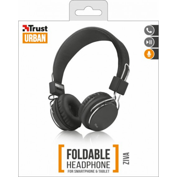 TRUST ZIVA FOLDABLE HEADPHONE - Noir