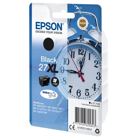 EPSON Cartouche Reveil Encre Du  27XL cartouche dencre noir haute capacite 17.7ml 1.100 pages 1-pack RF-AM blister