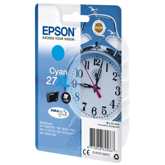 EPSON Cartouche Reveil Encre Du  27XL cartouche dencre cyan haute capacite 10.4ml 1.100 pages 1-pack RF-AM blister