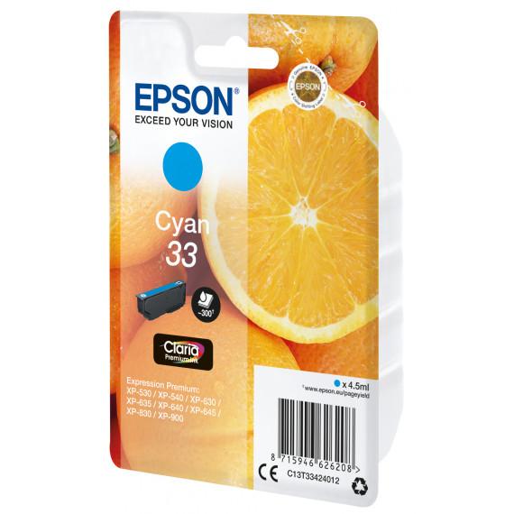 EPSON Cartouche Oranges Claria Cyan  Cartouche Oranges Encre Claria Premium Cyan