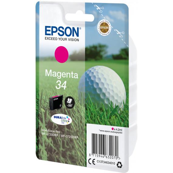 EPSON 34 Encre Magenta 4,2ml Blister  Singlepack 34 Encre Magenta DURABrite Ultra 4,2ml Blister