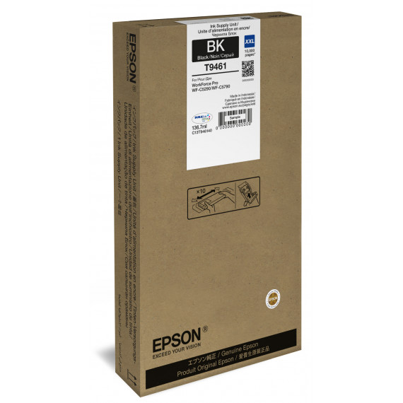 EPSON WF-C5x90 Ink Cart. XXL Bl 10000s  WF-C5x90 Series Ink Cartridge XXL Black 10000s. Applies to only 90 end models