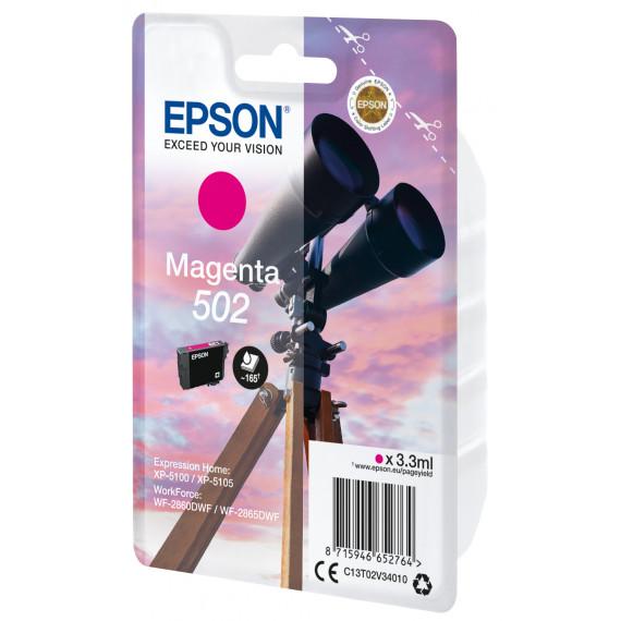 EPSON Singlepack Magenta 502 Ink SEC  Singlepack Magenta 502 Ink SEC
