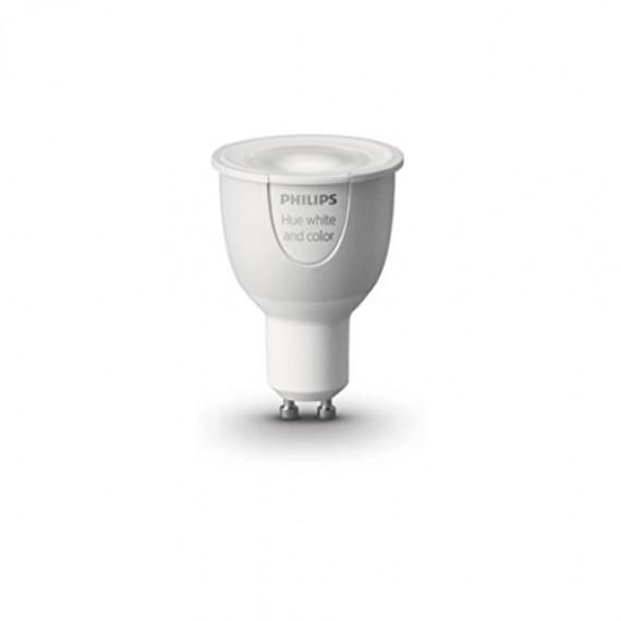 Philips Hue - Ampoule led connectée Hue White and Color - Culot GU10 - Pilotable via smartphone
