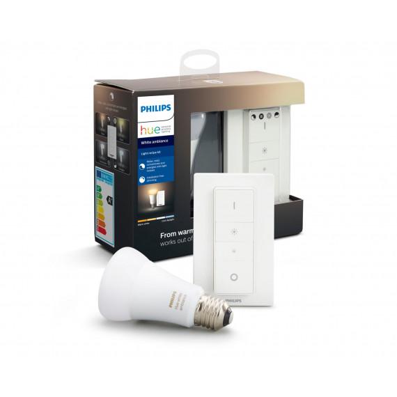 PHILIPS PHILIPS HUE Kit d'éclairage White Ambiance Ampoule et télécommande variateur