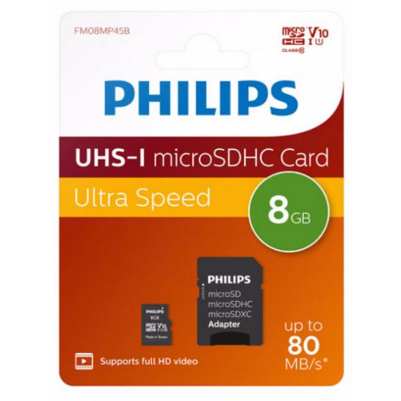 PHILIPS Carte microSDHC  PHMSD08C10 8 Go