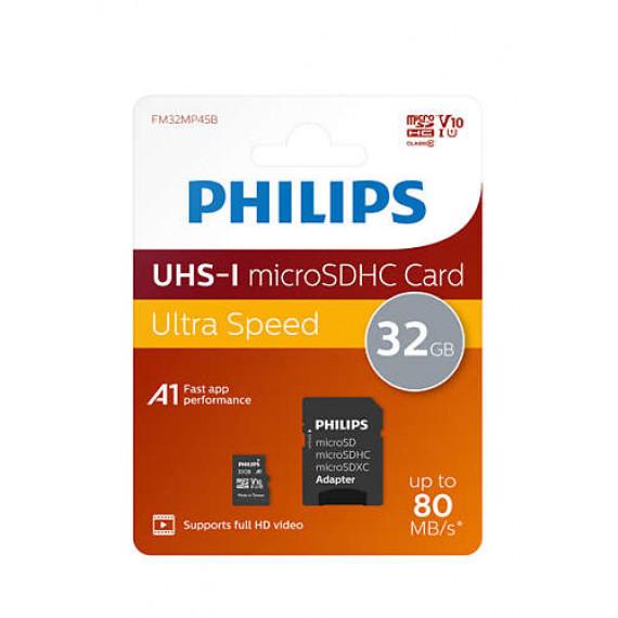 PHILIPS Carte mémoire Micro SDHC  Carte mémoire Micro SDHC