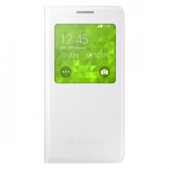 SAMSUNG S-View Blanc Samsung Galaxy Alpha