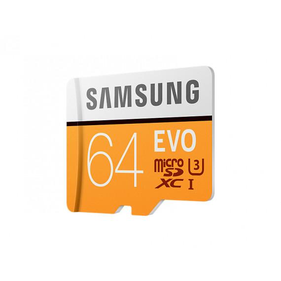 SAMSUNG Carte mémoire MicroSD Evo 64G avec adaptateur SD
