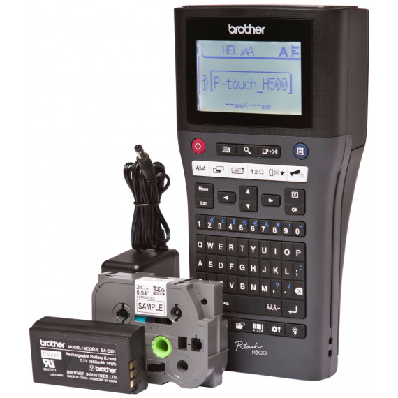 Etiqueteuse Brother P-touch H500LI noir pour l'industrie, les métiers et les bureaux électriques étiqueteuse Tapes: jusqu'à 24 mm