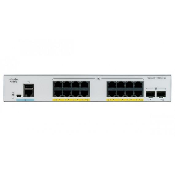 CISCO C1000-16P-2G-L  Catalyst 1000 16-Port Gigabit PoE+ PoE Budget 120W 2 x 1G SFP Uplinks LAN Base