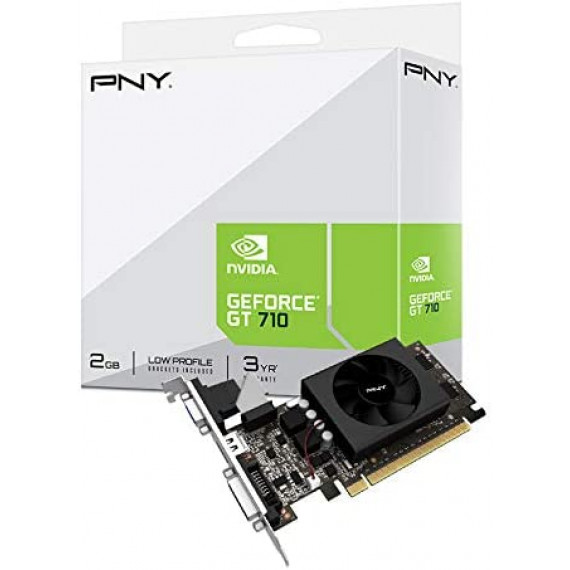 PNY GeForce GT 710 2Go GDDR5 Single Fan  GeForce GT 710 2Go GDDR5 PCIe Express 2.0 HDMI Dual-link DVI-D VGA Single Fan Graphics Card