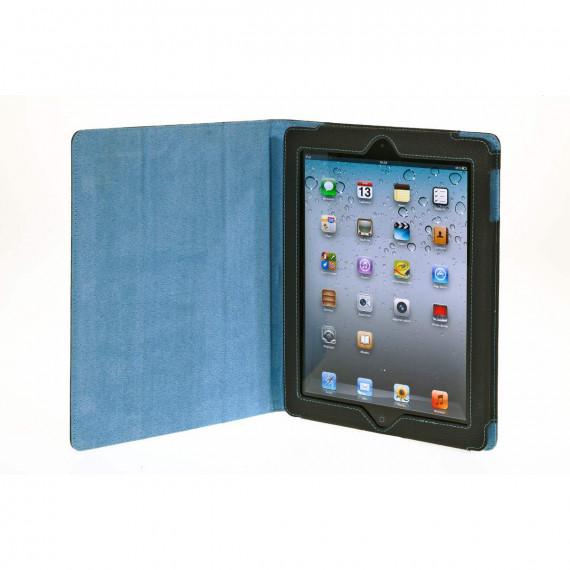 BLUESTORK Folio pour iPad en cuir avec stand +wake up