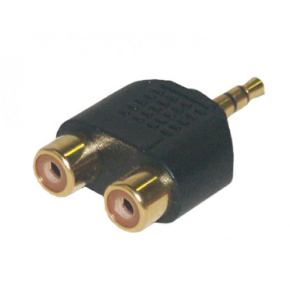 MCL Adaptateur JACK 3.5 mâle / 2 x RCA femelle haute qualité