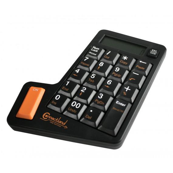 CONNECTLAND Pavé numérique USB avec Calculatrice Noir
