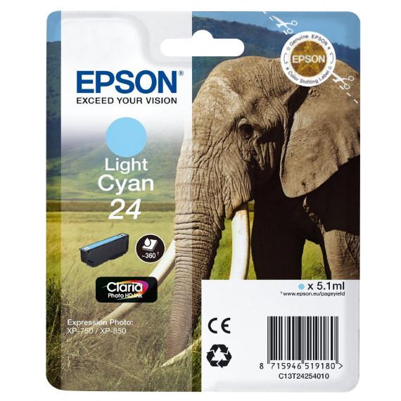 EPSON  Cartouche jet d'encre Epson Claria 24 - Cyan clair  -C13T24254010