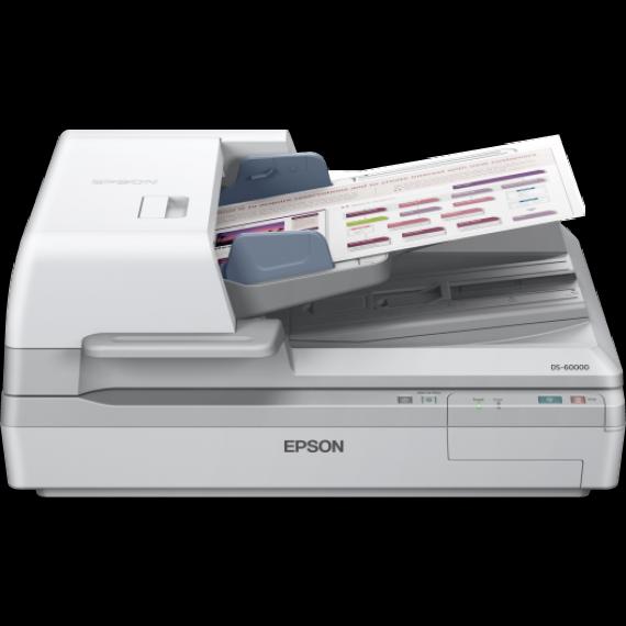 Scanner EPSON WorkForce DS-60000 - A3 - Chargeur d'originaux Recto Verso un seul passage + Suite logicielle