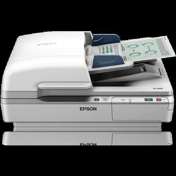 Scanner EPSON WorkForce DS-6500 - A4 - Chargeur d'originaux Recto Verso un seul passage + Suite logicielle