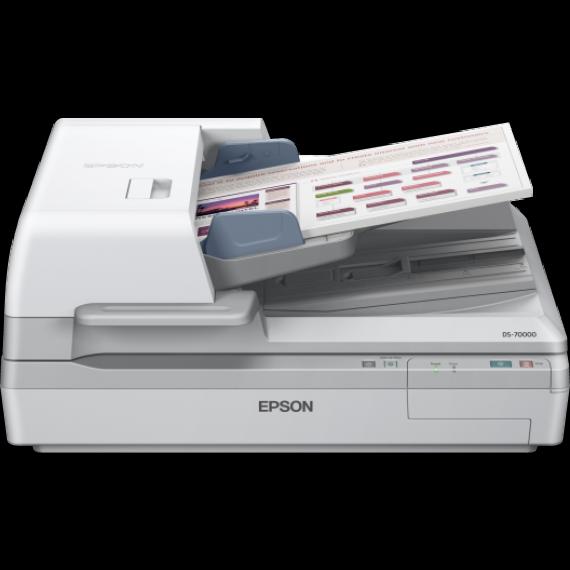 Scanner EPSON WorkForce DS-70000 - A3 - Chargeur d'originaux Recto Verso un seul passage + Suite logicielle