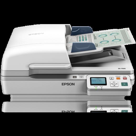 Scanner EPSON WorkForce DS-7500N - A4 - Chargeur d'originaux Recto Verso un seul passage + Suite logicielle