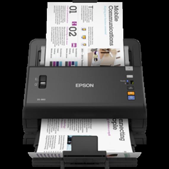Scanner Epson WorkForce DS-860N - A4 - Ethernet - Chargeur d'originaux Recto Verso un seul passage + Suite logicielle