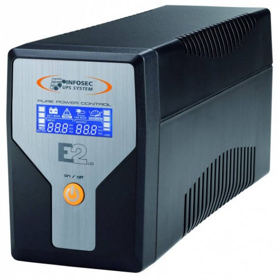 Onduleur Infosec E2 LCD  600 On Line Performance 600 VA+4IEC+RJ11+USB+RACK TOWER