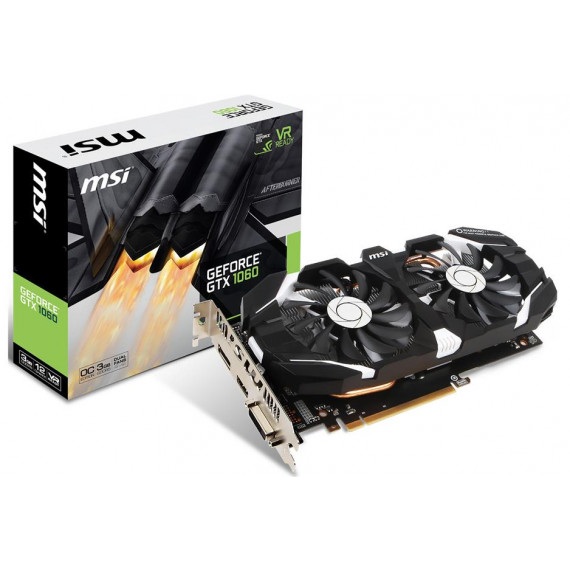 MSI MSI GeForce GTX 1060 3GT OC - 3072 Mo DVI/HDMI/DisplayPort - PCI Express (NVIDIA GeForce avec CUDA GTX 1060)