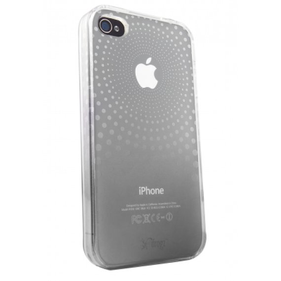 IFROGZ Housse iPhone 4 SoftGloss Phase  - Clear/Silver - PROMO!! ¬ (IP4GSGPH-CLR/SLV)