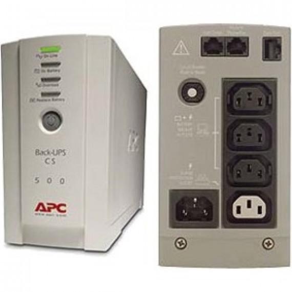 Onduleur off-line monophasé APC Back-UPS CS 500VA 230V (USB / Série)