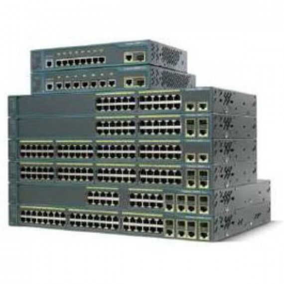 Switch Cisco Catalyst 2960 PLUS 24 10/100 + 2T/SFP Lan Base - WS-C2960+24TC-S